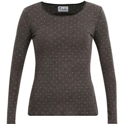 Shirt wool dots, brown XS