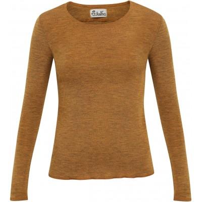 Shirt wool melange, mustard