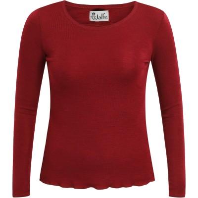 Shirt wool melange, dark red