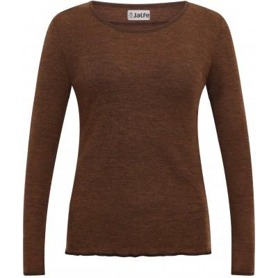 Shirt wool melange, brown
