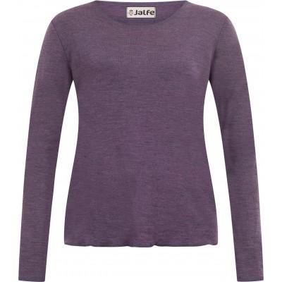 Shirt wool melange, purple