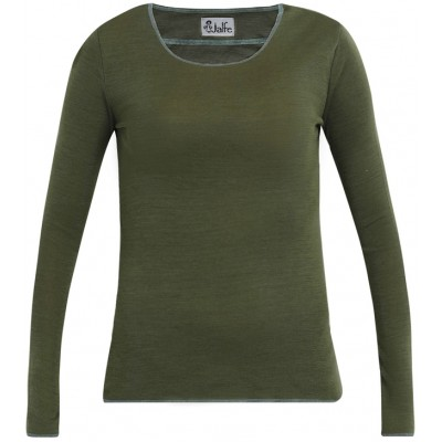 Shirt wool, dark green