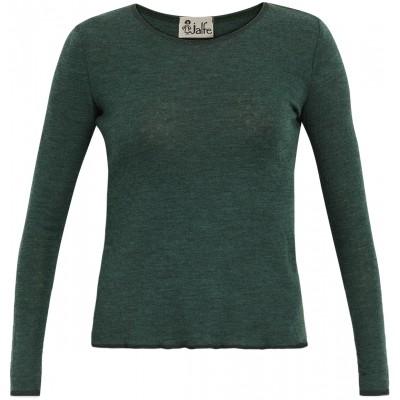 Shirt wool melange, dark green