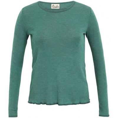Shirt wool melange, emerald