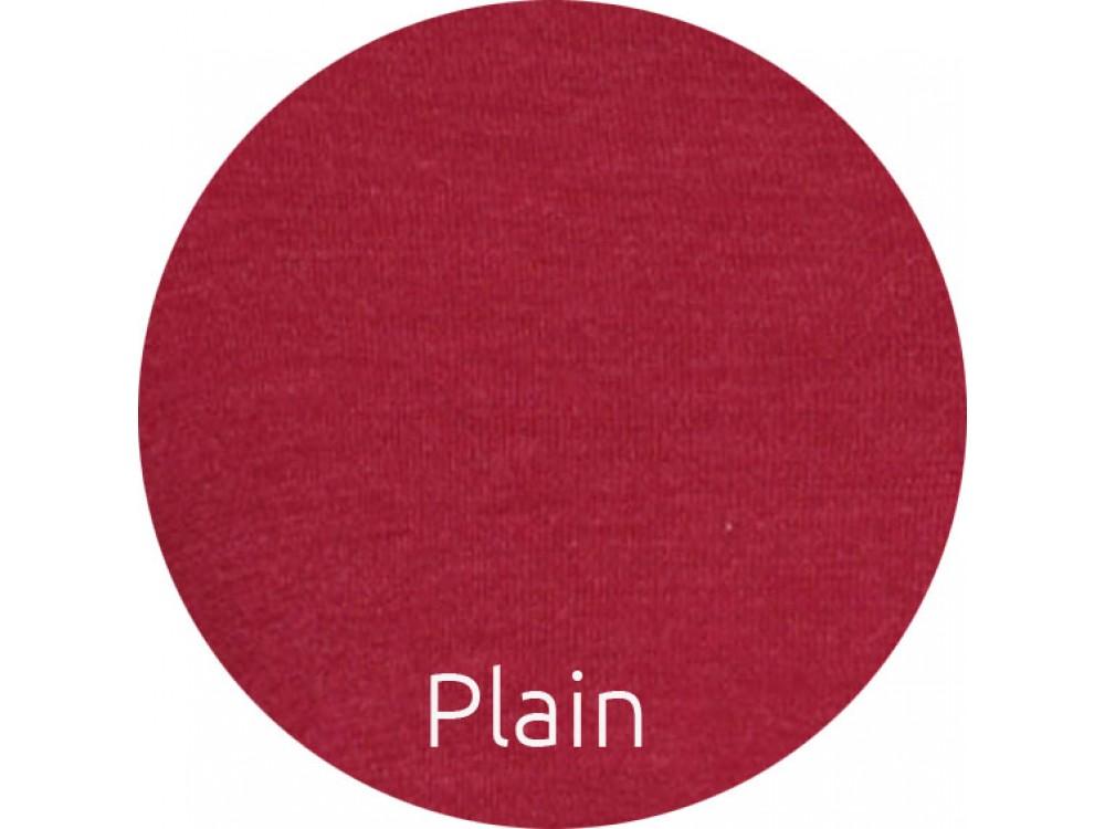 Shirt wool melange, cherry plain knit