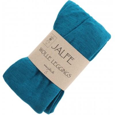 Leggings wool, dark turq.