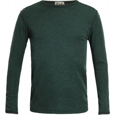 Men´s shirt wool melange, dark green