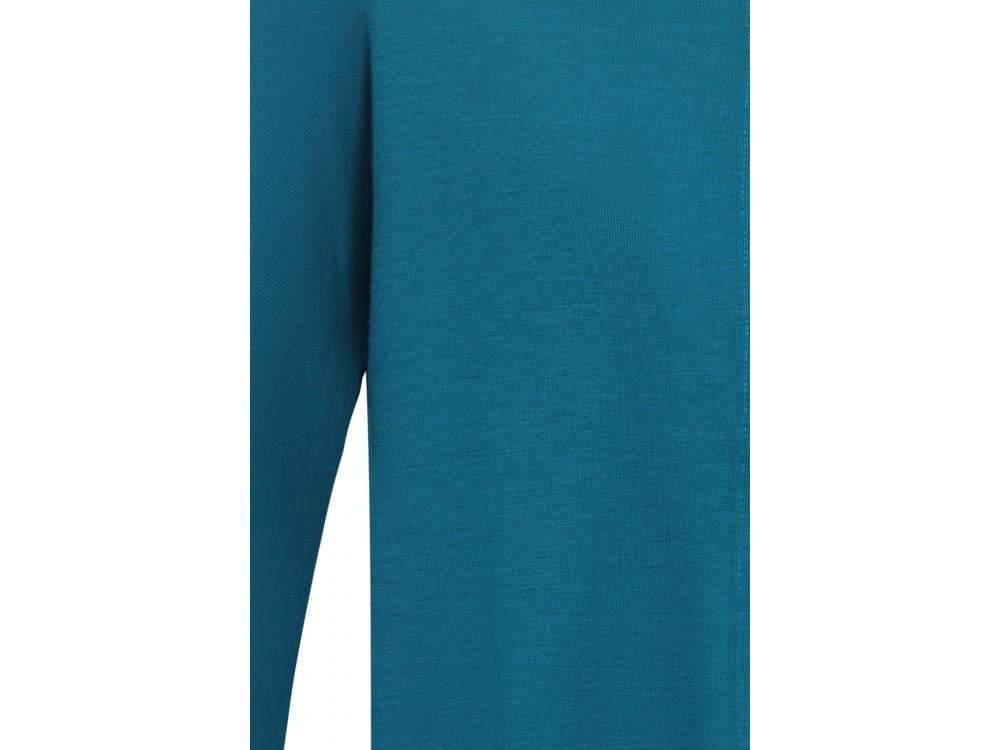 Oversize cardigan wool, dark turq.