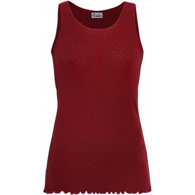 Top wool, dark red