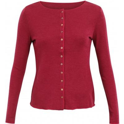 Cardigan wool melange, cherry/pink