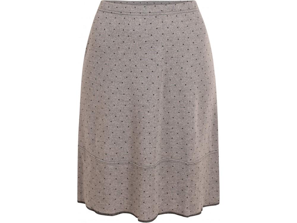 Balloon skirt wool dots, grey