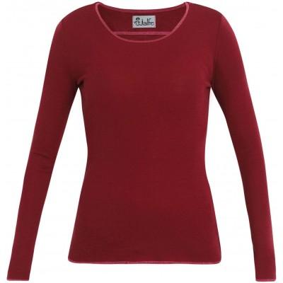 Shirt wool, dark red