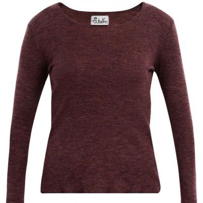 Shirt wool melange, plum XS