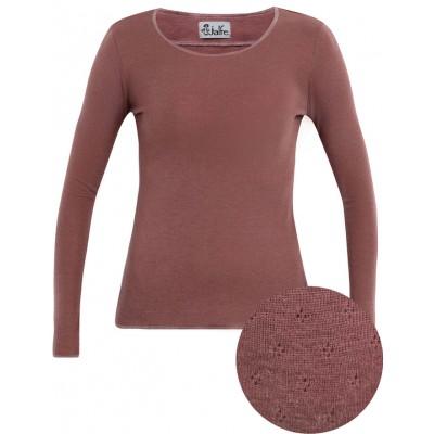 Shirt wool, rose hole pattern