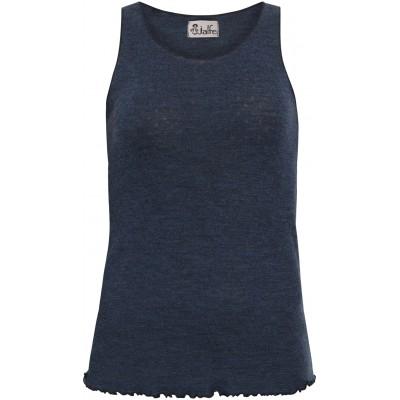 Top wool melange, jeansblue