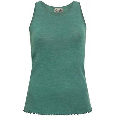 Top wool melange, emerald