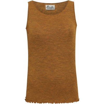 Top wool melange, mustard
