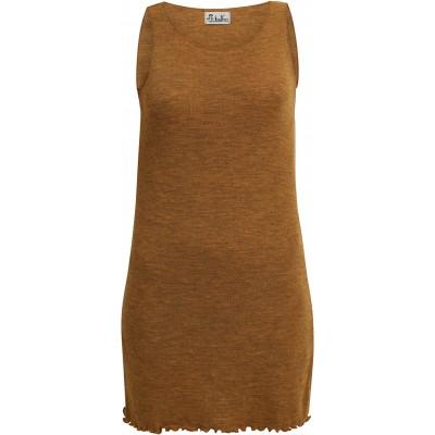 Long wool melange, mustard