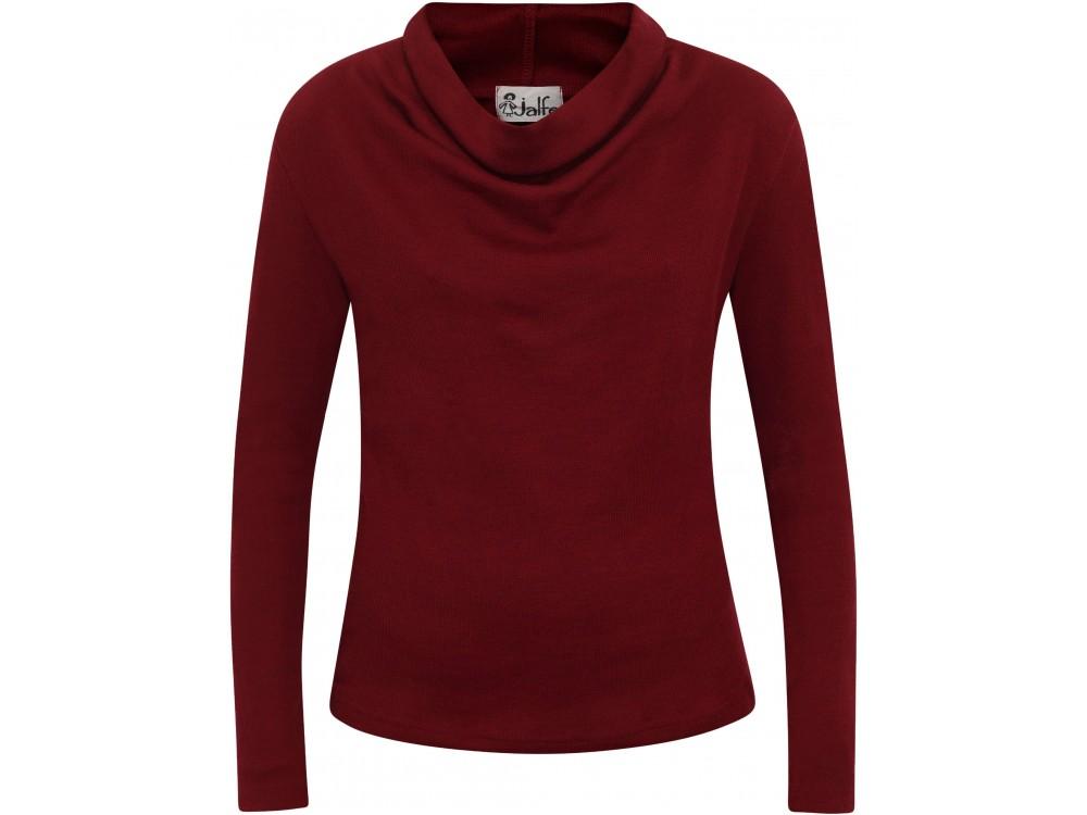 Waterfall shirt wool rib, dark red