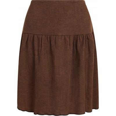 Skirt wool rib, brown