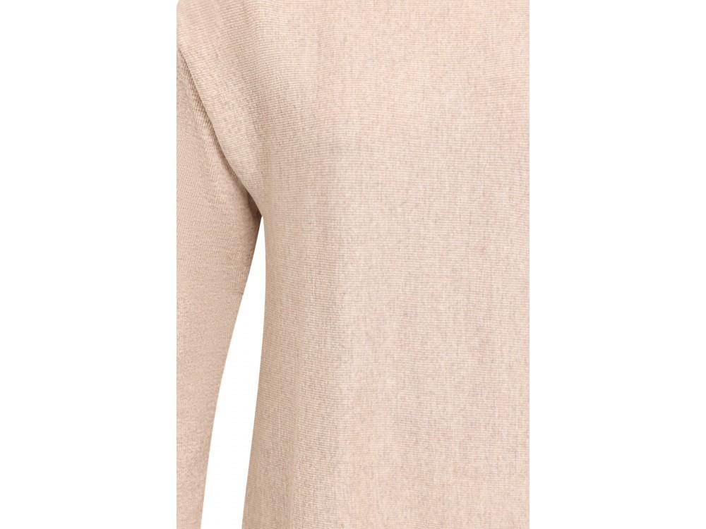 Long Blouse wool rib, undyed