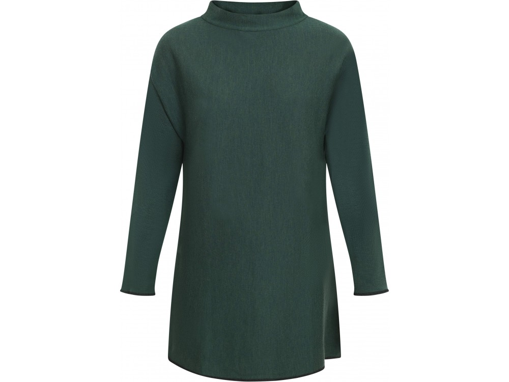 Long Blouse wool rib, forest
