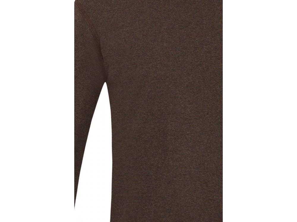Men´s shirt organic cotton stripes,  anthracite-brown