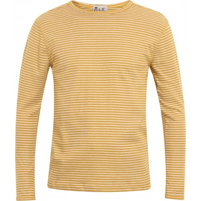 Men´s shirt organic cotton stripes,  curry-undyed