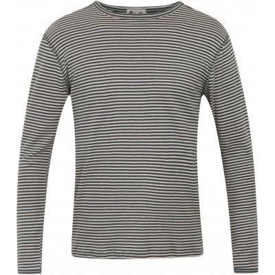 Men´s shirt organic cotton stripes,  petrol-undyed