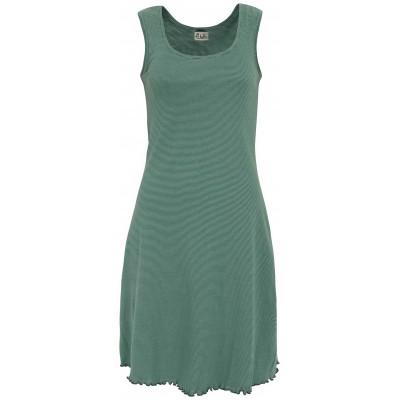 Basic dress organic cotton stripes, green-bluegreen