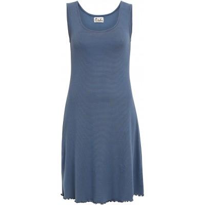 Basic dress organic cotton stripes, blue-dark blue