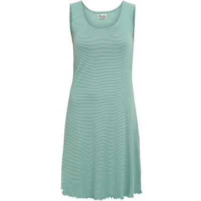 Basic dress organic cotton stripes, water-green
