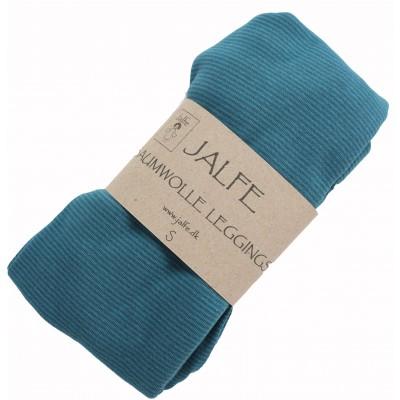 Leggings organic cotton stripes,  bluegreen-turq.