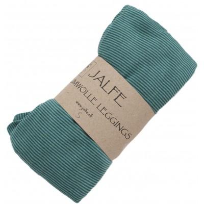 Leggings organic cotton stripes,  green-bluegreen