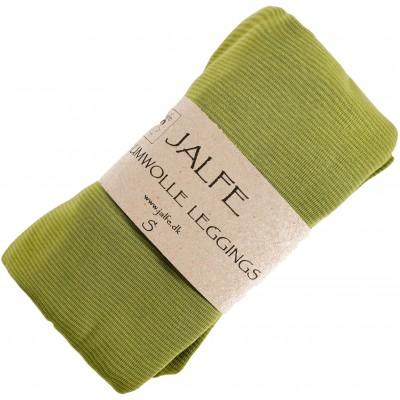 Leggings organic cotton stripes,  lime-green