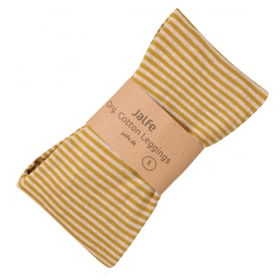 Leggings organic cotton stripes,  curry-undyed