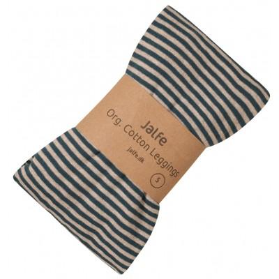 Leggings organic cotton stripes,  petrol-undyed