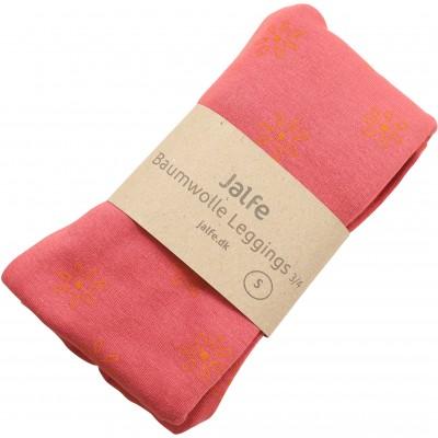 Leggings 3/4 organic cotton print,  red-orange