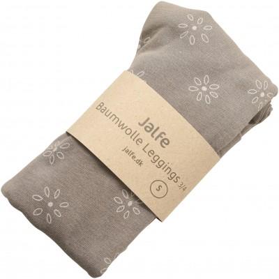 Leggings 3/4 organic cotton print,  sand-grey