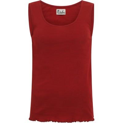 Top organic cotton stripes,  red-bordeaux