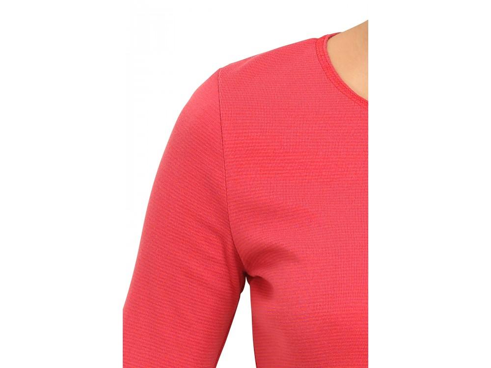 Shirt s/s organic cotton stripes,  pink-orange