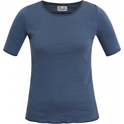 Shirt s/s organic cotton stripes,  blue-dark blue