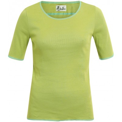 Shirt s/s organic cotton stripes,  green-lime