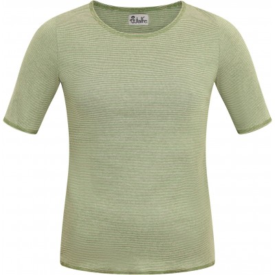 Shirt s/s organic cotton stripes,  green-undyed