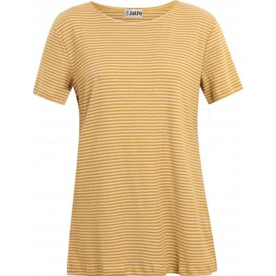 Tunic organic cotton stripes,  curry-undyed