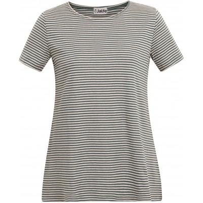 Tunic organic cotton stripes,  petrol-undyed