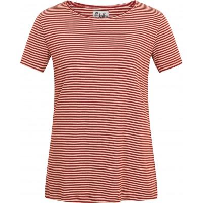 Tunic organic cotton stripes,  rust-undyed