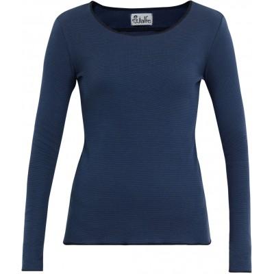 Shirt organic cotton stripes,  blue-dark blue