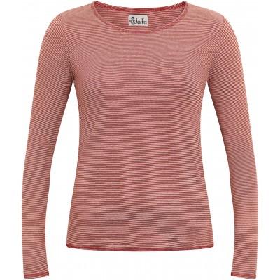 Shirt organic cotton stripes,  rust-undyed
