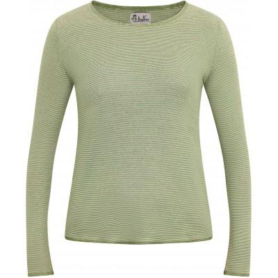Shirt organic cotton stripes,  green-undyed